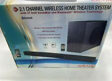 """NEW Craig 2.1 Channel Home Theater System W/ 37"""" Sound bar"""