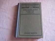 Livre Histoire de France et Notions d'histoire générale de 1852 à 1920 Hachette