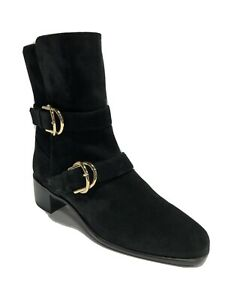 Stuart Weitzman Women's Britain, Mid-Calf Boots-Black, Size 8.5W.