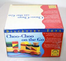 Brand New in Box 2613 Discovery Toys Choo-Choo On The Go Wooden Train Set- Pre-K