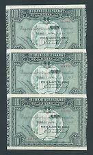 F.C. BANCO DE BILBAO , TRIO CORRELATIVO 100 PESETAS 1937 , EBC .