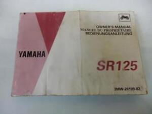 Manuell Von Eigner Benutzer origine Yamaha Motorrad 125 Sr 3MW-28199-82