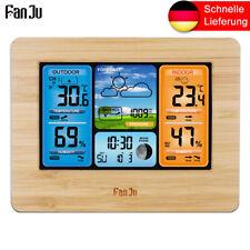 FanJu Funk-Wetterstation Farbprognose mit Temperatur Luftfeuchtigkeit FJ3373W