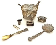 NICE COLLECTION OF CONTINENTAL SILVER MINIATURES ~NICE STARTER LOT~