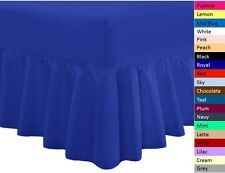 VALANCE SHEETS 18 COLOURS SINGLE DOUBLE KING SUPER KING PILLOWCASES POLYCOTTON