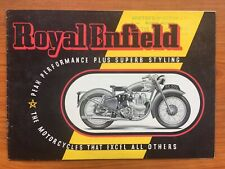 1949 Royal Enfield Motorcycles Brochure Bullet Twin 350 500cc J2 G Re Early