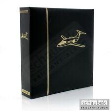 Schaubek KOA-FLUGZEUGE Motivalbum Flugzeuge - Kunstleder-Schraubbinder schwarz,