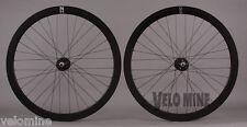 H + Plus Son EERO Black Rims 32h Fixed Gear Track Bike Aero Wheelset DT Spokes