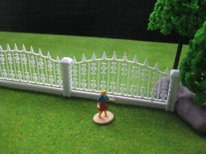 LG10006 1 Meter Model Railway Building Fence Wall 1:87 HO OO Scale NEW