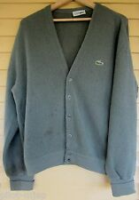 """Vintage """"Lacoste Izod"""" Chemise Cardigan Size 4 Small Pure Wool"""