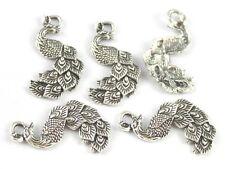 20PCS Tibetan silver cute peacock charms FC15701