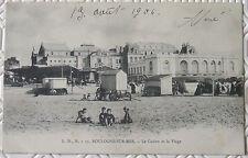 CPA 62 Boulogne sur mer Le Casio et la Plage animée 1904