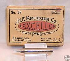 Krueger Vintage  #68 Silver Plated Dip Nib  new old stock