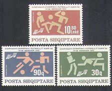 Albania 1992 European Football/Sports/Games/Soccer/Animation 3v set (n36164)