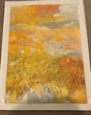 """AUTHENTIC ARTAGRAPH OIL PAINTING """"SUMMER"""" BY G.CRABTREE SIGNED SER# UNREADABLE"""