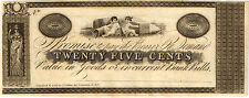 Scarce 18-- 25 Cent Obsolete Currency - Kinderhook, New York (see text)  CU