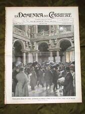 La Domenica del Corriere 14 Marzo 1909 Palazzo Marino Treno Neve Belgrado