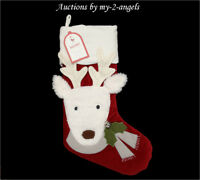 NWT Pottery Barn Kids REINDEER LUXE VELVET Christmas Stocking NO MONOGRAM / NAME