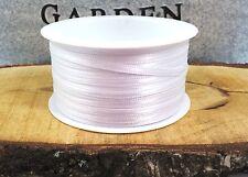 (0,12€/m)  50m Satinband 3mm weiß schmales Schleifenband Taufe Hochzeit basteln