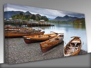 Keswick English Lake District Panoramic Canvas Wall Art Picture Print