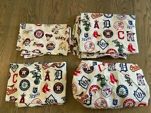 Pottery Barn kids MLB american league Twin sheet. Major league baseball teams