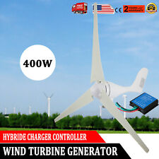 400W Max Wind Turbine Generator 3 Blades DC 12V Kit With Charger Controller