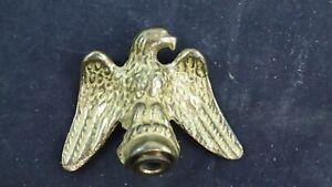 "American Bald Eagle Flag Pole Topper Brass Lamp Finial Spread Wings 2 1/4"""