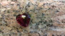 GUENUINE SWAROVSKI  RED HEART PENDANT ON CHAIN, WITH BOX