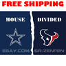 Dallas Cowboys vs Houston Texans House Divided Flag Banner 3x5 ft NFL 2019 NEW