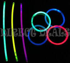 """300 8"""" Glow Light Sticks Bracelets Mix Colors Necklaces Party Favors Raves Club"""