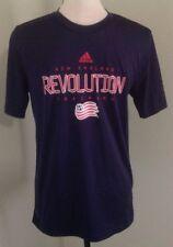 Boy's Adidas New England Revolution Shirt Sz XL 18 Blue Training Climalite Tee