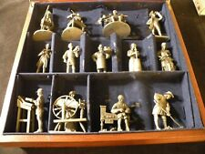 "The Franklin Mint ""The People of Colonial America"" - 13 Fine Pewter Figures/Box"