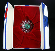Swarovski Crystal Scs Renewal ~ Green Marguerite ~ Mint In Box