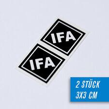 Paar IFA Aufkleber karo pas f Simson S50 S51 S83 SR50 SR1 SR2 Schwalbe KR51 Star