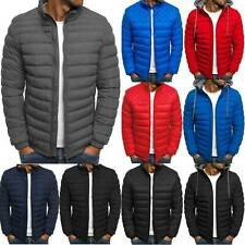 Men Warm Winter Puffer Bubble Coats Jacket Quilted Padded Pockets Casual Outwear
