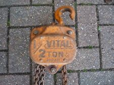 More details for 1/2 ton vital block and tackle with 3m lift - made in japan - excellent quality