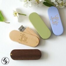 Custom Wood USB Flash Drive Memory Stick For Photographer Pendrive 8GB 64GB