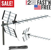 Leadzm 300 Mile Indoor Outdoor TV Antenna Digital HDTV 1080P DEEP FRINGE CAPABLE