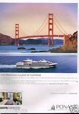 Publicité advertising 2015 Bateau Yachting de Croisière Ponant