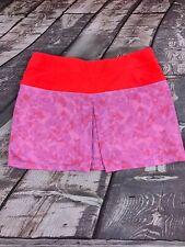 "Adidas Women's Golf Tennis Skort Skirt Camo Mesh Print Coral Light Purple W:36"""