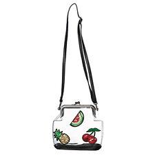 Banned Golden Vanity Vintage 1950s Retro Transparent Fruit Handbag Bag