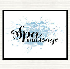 Bleu Blanc Spa Massage Inspirant Citation Dîner Table Napperon