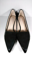 Witchery Black Leather Suede Pointed Toe Slip On Smoking Flats Womens Size 39