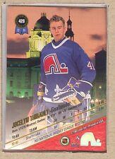 Jocelyn Thibault 428 1993-94 Leaf Set (Scan is back of card) Rookie RC