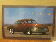 vintage 1988 Tucker car poster garage man cave  4923