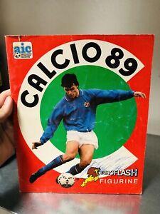 ALBUM FIGURINE CALCIO 89 EUROFLASH  NON COMPLETO