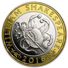 2016 Great Britain £2 Prf Silver Shakespeare: Comedies - SKU #96766
