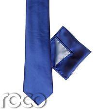 Niños Azul Real bolsillo cuadrado, niño en Corbata, Corbata Lisa, Clásica