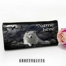 Personalised White Wolf Fantasy Large Ladies Money Coin Purse Mum Gift ST732