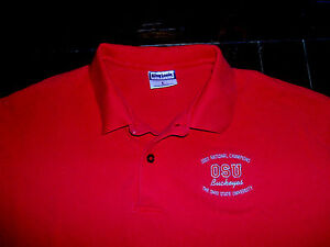 Ohio State University Buckeyes Red Large Polo Shirt 2012 National Champions